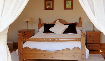 Double Bedroom at Dan Castell Holiday Cottage