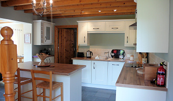 The Kitchen at Dan Castell Holiday Cottage
