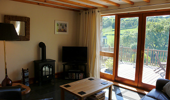 Living area at Dan Castell Holiday Cottage